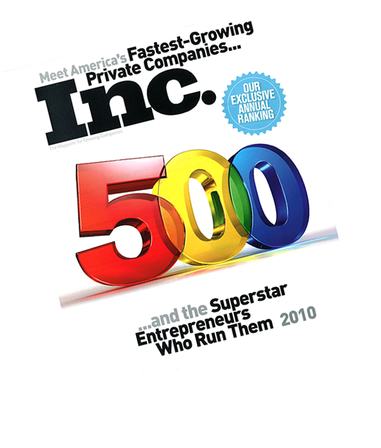 Inc. Magazines Top 500 Fastest Growing Companies magazine cover